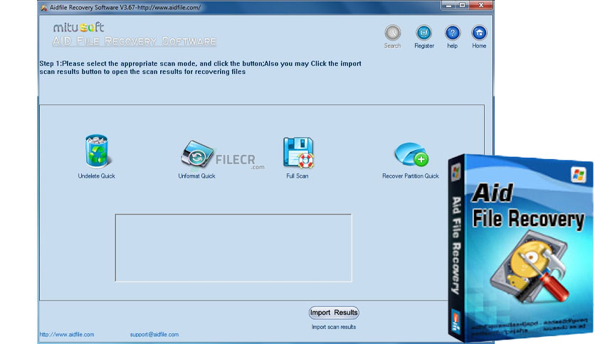 Aidfile Recovery Software 3.7.2.2