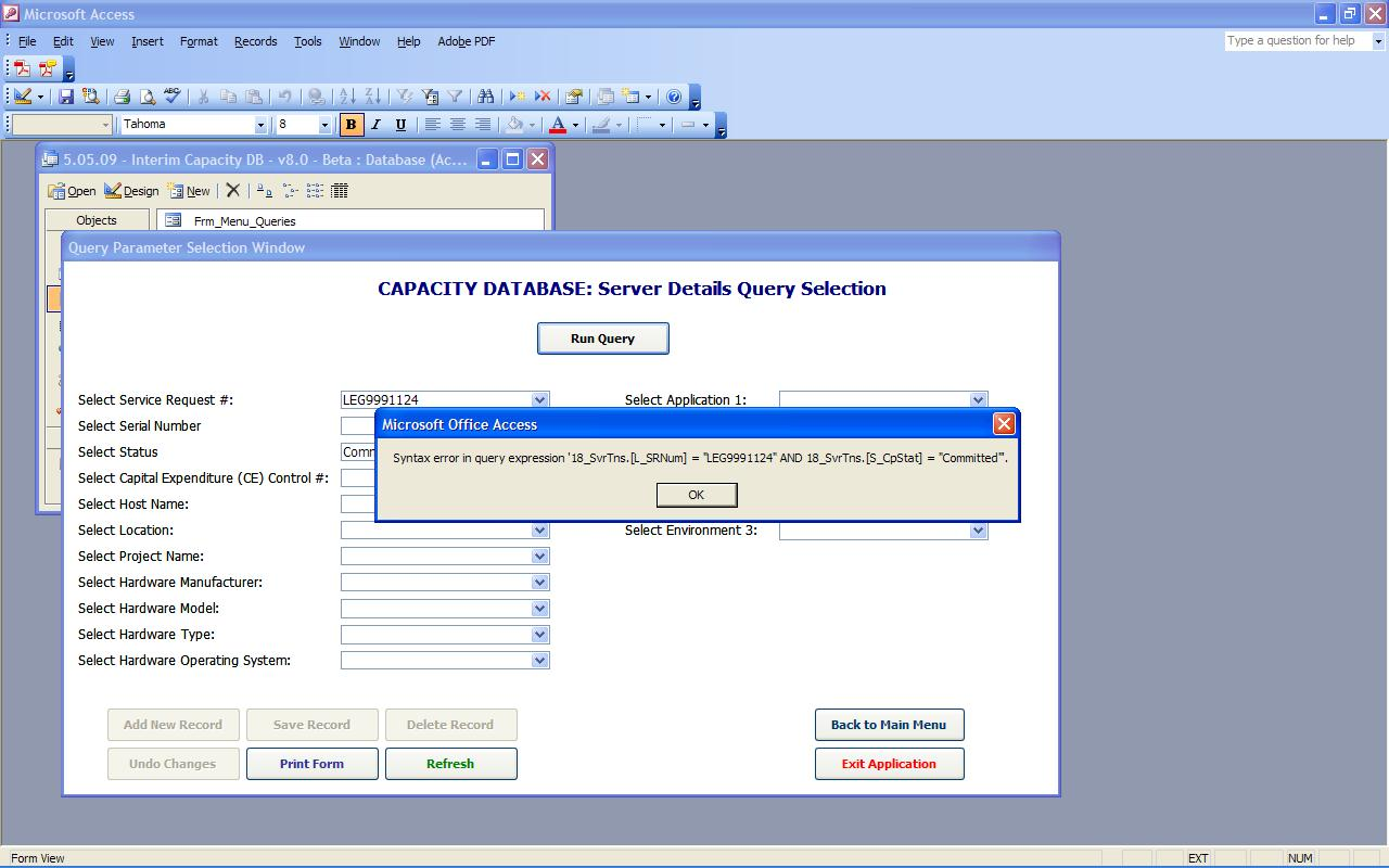 Sql And Vba Syntax Error Solutions