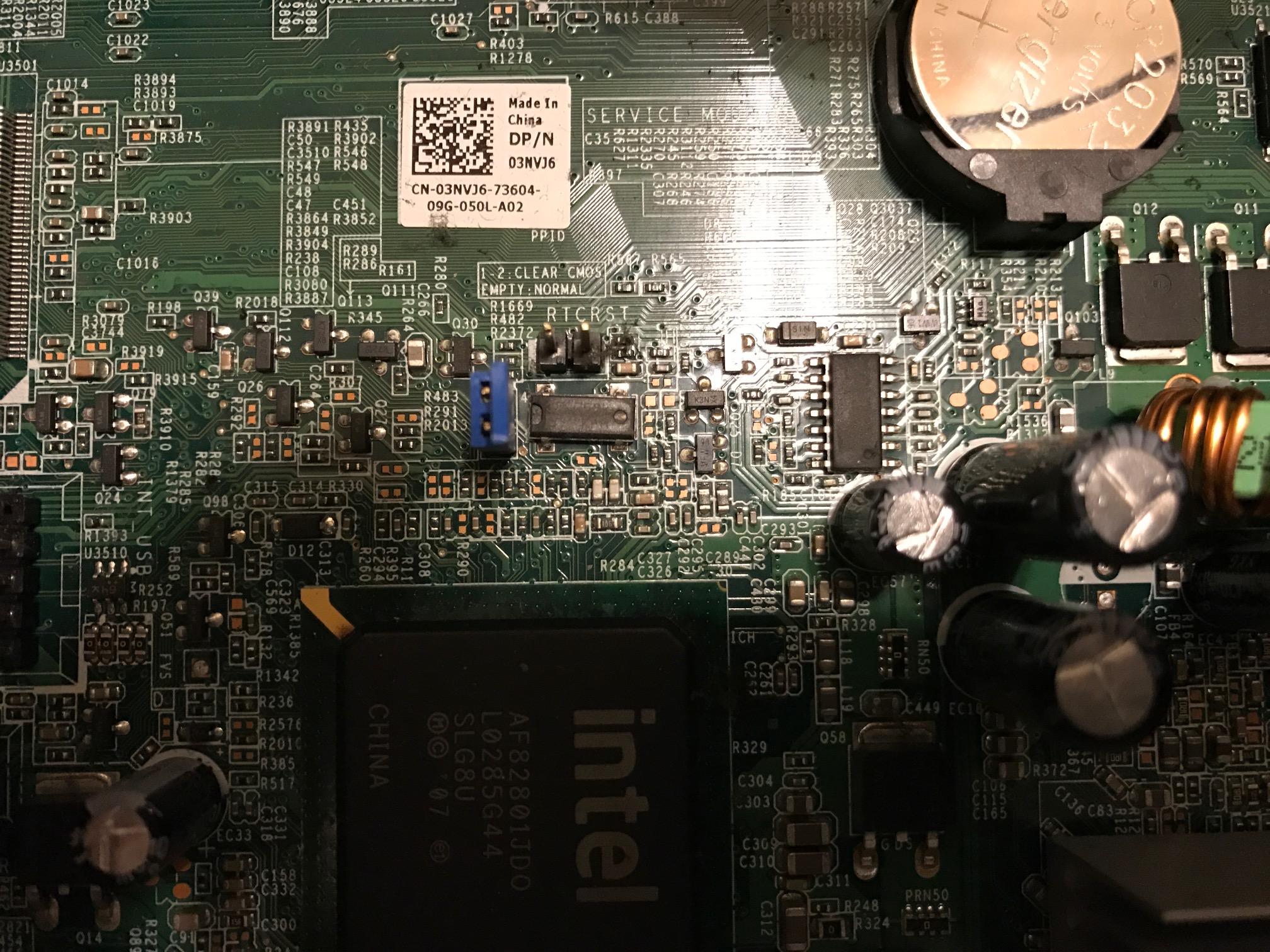 Dell Laptop Bios Reset Jumper