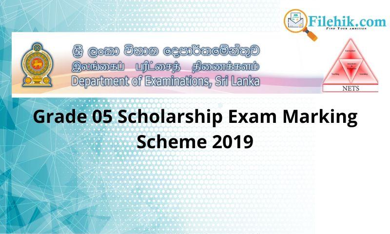 Grade 05 Scholarship Exam Marking Scheme 2019
