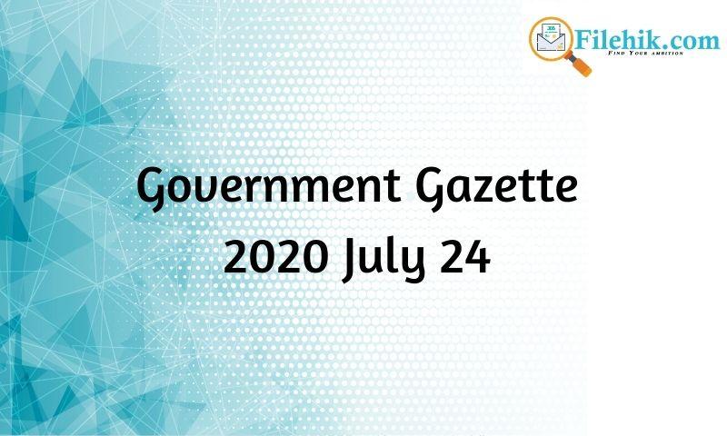 Government Gazette 2020 July 24