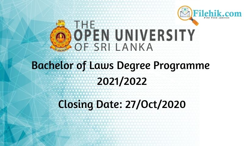 Bachelor Of Laws Degree Programme 2021/2022