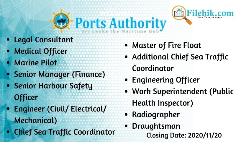 Vacancies In Sri Lanka Ports Authority