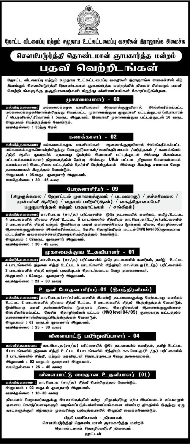 Manager, Accountant, Instructor, Management Assistant, Coach