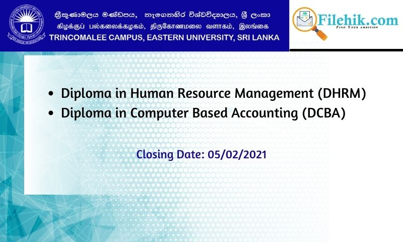Diploma In Human Resource Management (Dhrm), Diploma In Computer Based Accounting (Dcba)