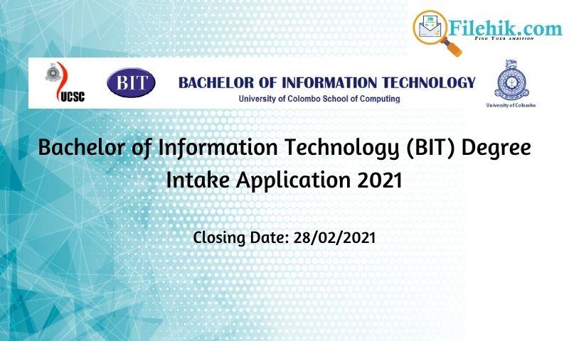 Bachelor Of Information Technology (Bit) Degree Intake Application 2021