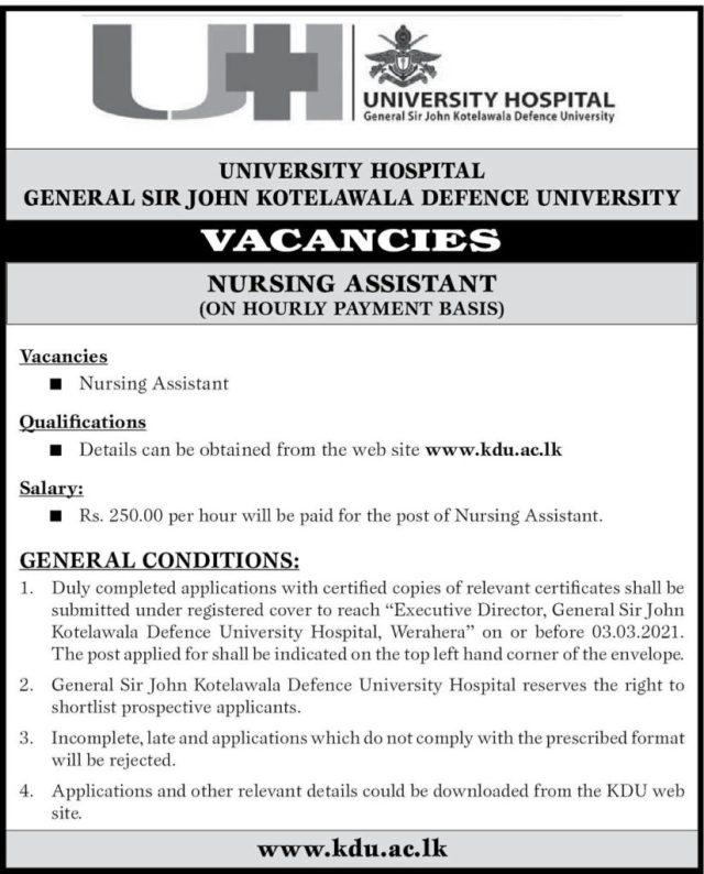 Nursing Assistant - University Hospital