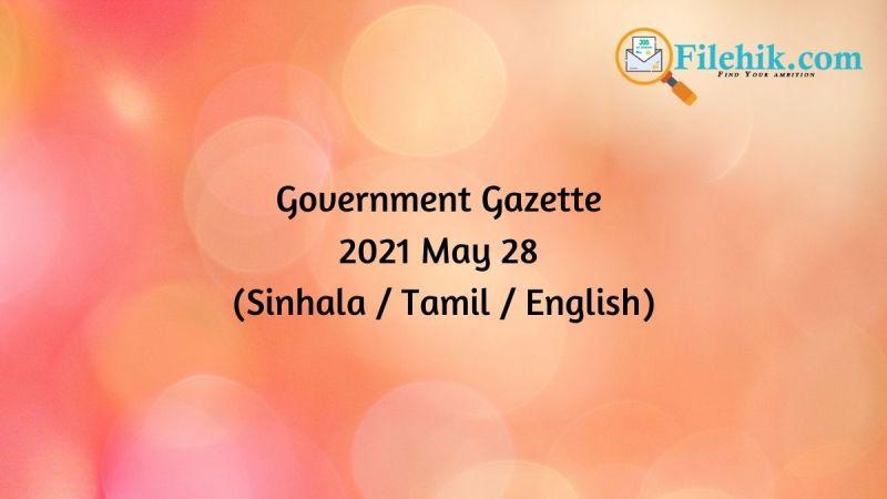 Gazette 2021 May 28
