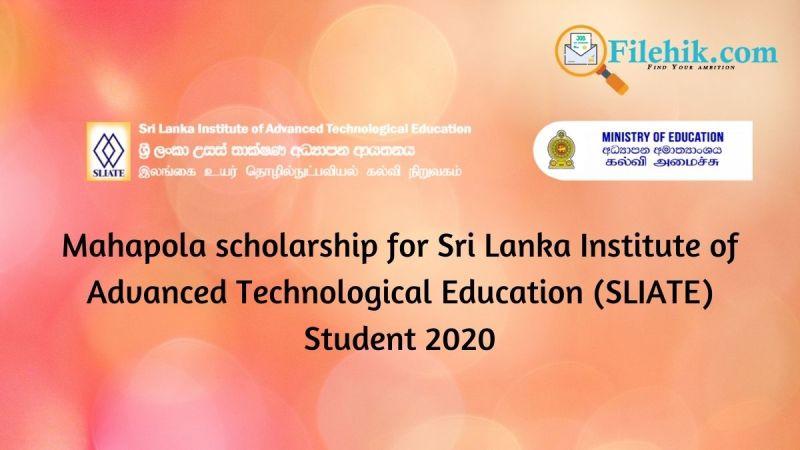 Mahapola scholarship
