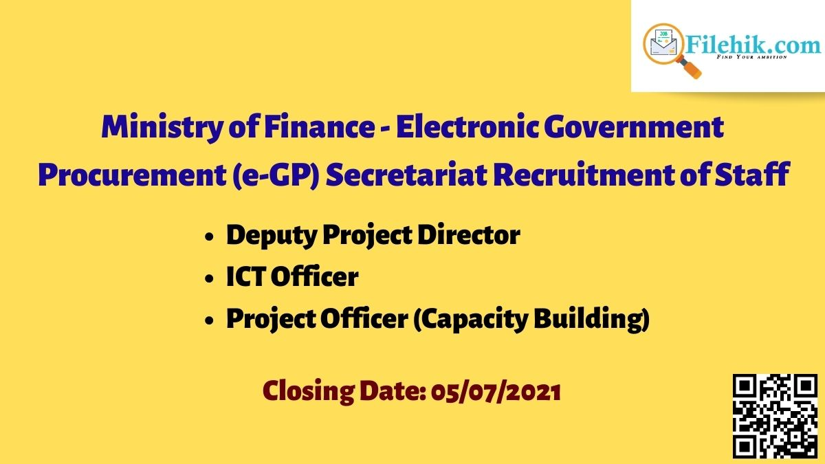 Ministry Of Finance Career Opportunities 2021