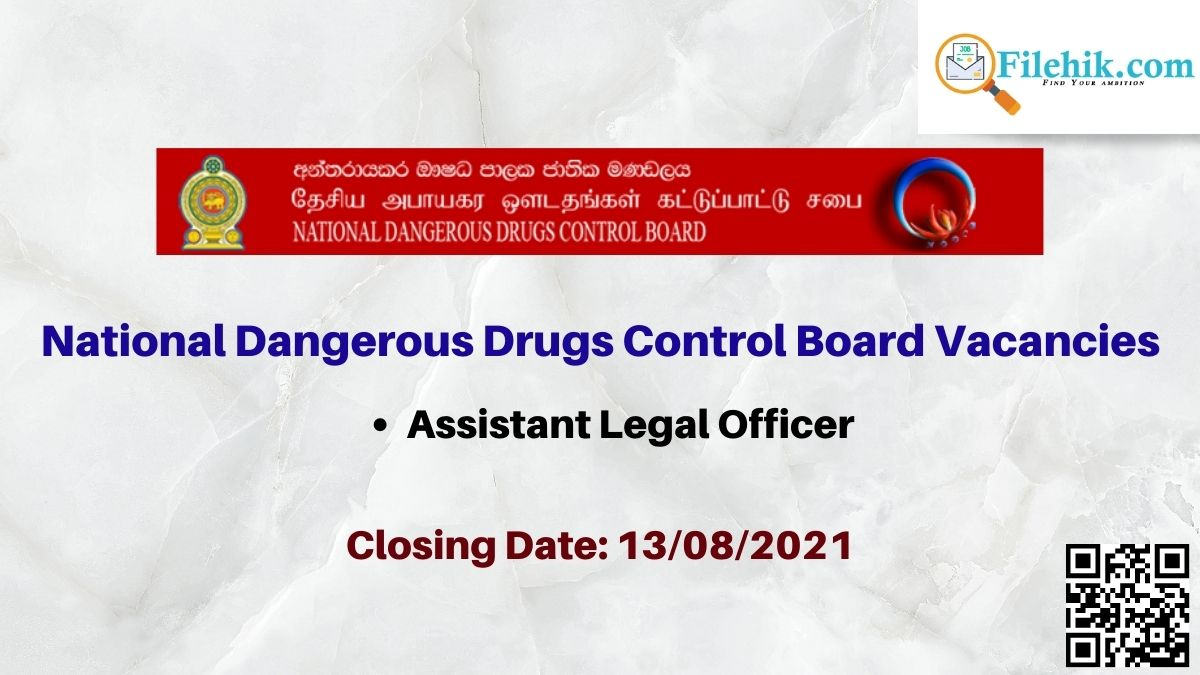 National Dangerous Drugs Control Board Career Opportunities 2021
