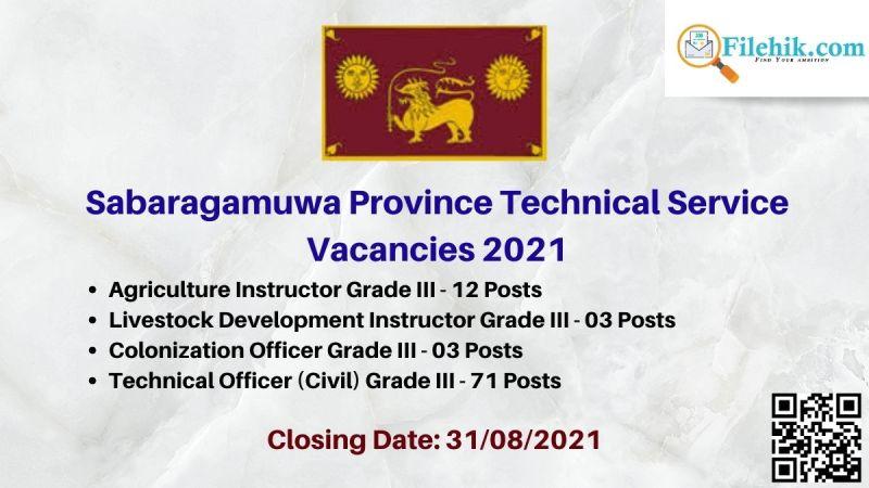 Sabaragamuwa Province Technical Service