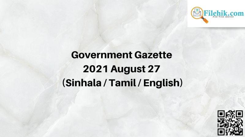 Gazette 2021 August 27