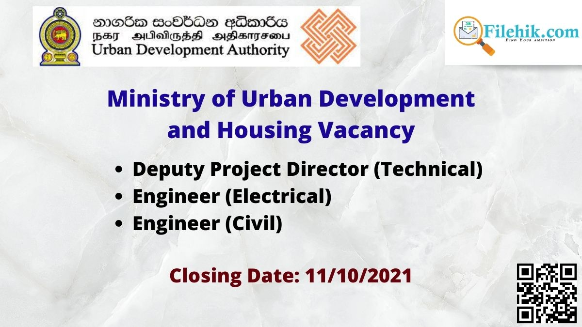 Ministry Of Urban Development And Housing  Opportunities 2021