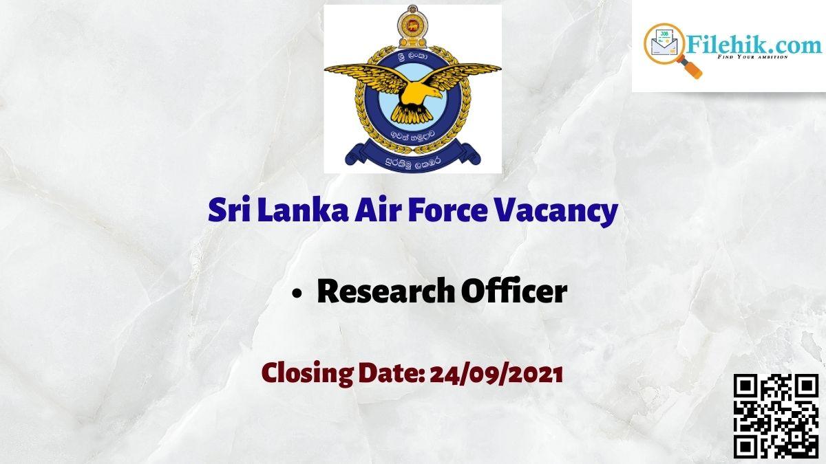Sri Lanka Air Force Career Opportunities 2021