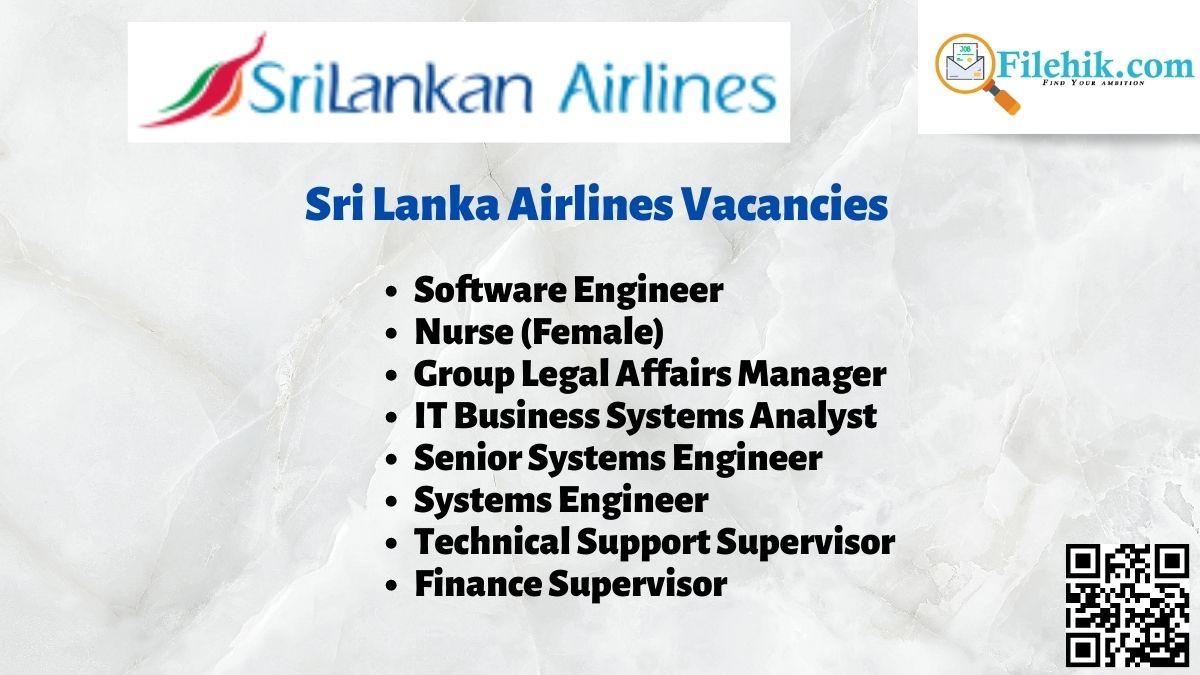 Sri Lanka Airlines Career Opportunities 2021