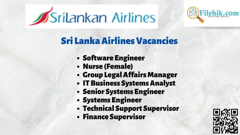 Sri Lanka Airlines Vacancies