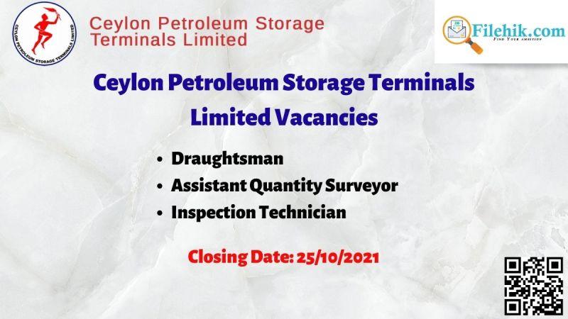 Ceylon Petroleum Storage Terminals Limited Vacancies