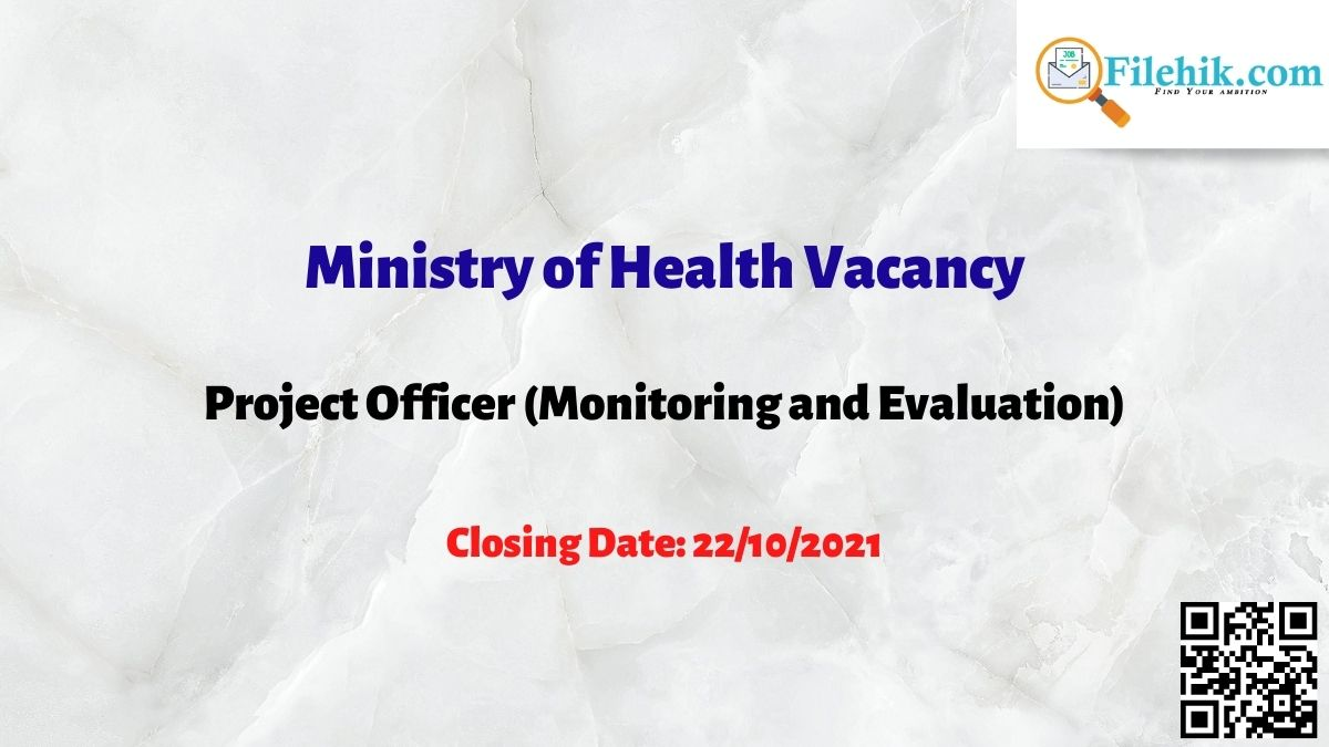 Ministry Of Health Vacancy 2021