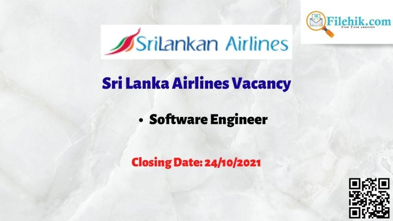 Sri Lanka Airlines Software Engineer Vacancy