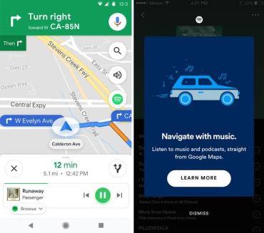 spotify google maps integration