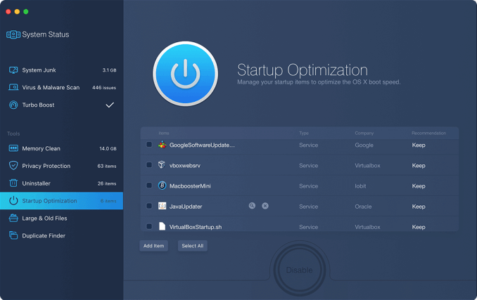 Startup Optimization System Cleaner For Mac