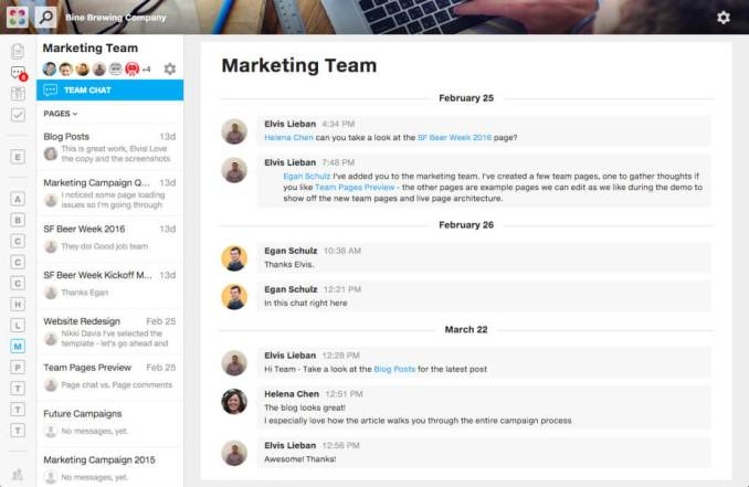 marketing team for Team Collaboration Software