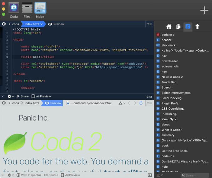 sidebar dark web development app