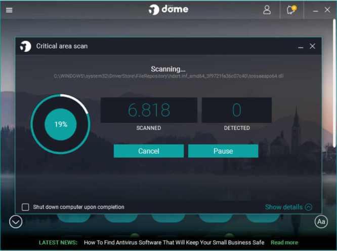 panda-dome-best-free-antivirus-scanning