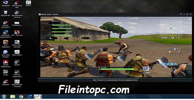 Fortnite Mobile on PC with MEmu Emulator