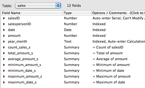 Define Summary Fields