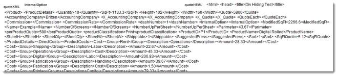 Quote XML a