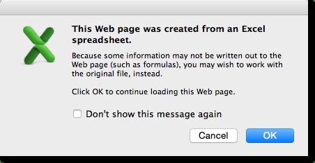 Excel/Mac warning dialog