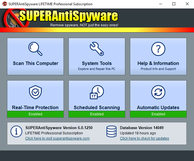 SUPERAntiSpyware Professional 8.0.1030 Registration Code
