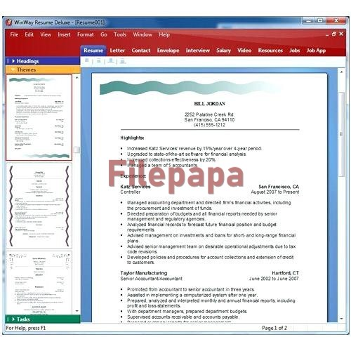 Winway Resume Deluxe 14 00 Pre Crack Free Download
