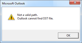 OST file error message