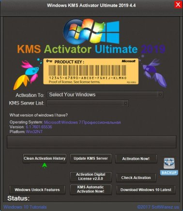 Windows KMS Activator Ultimate 2019