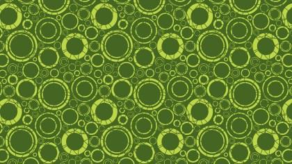 Moss Green Geometric Circle Pattern