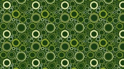 Dark Green Geometric Circle Pattern Background Vector