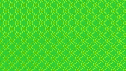 Neon Green Overlapping Circles Background Pattern