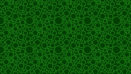 Dark Green Circle Pattern