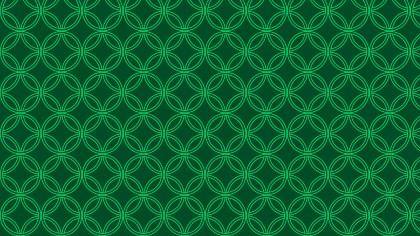 Dark Green Seamless Overlapping Circles Pattern Background