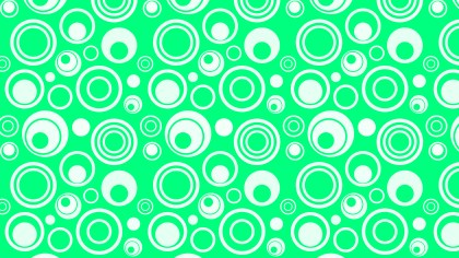 Spring Green Circle Background Pattern