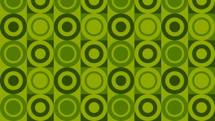 Green Seamless Geometric Circle Pattern Illustration