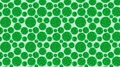 Green Dotted Circles Pattern Background