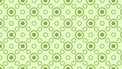 Light Green Seamless Circle Pattern
