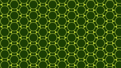 Dark Green Seamless Circle Pattern Design