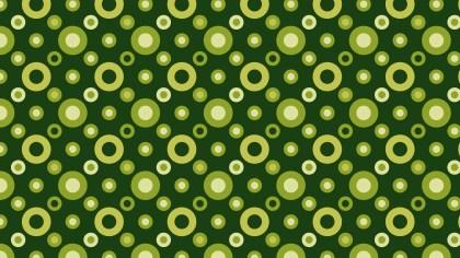 Dark Green Seamless Circle Pattern Graphic