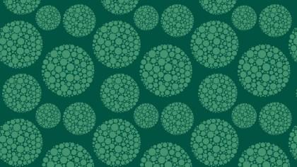 Dark Green Dotted Circles Pattern Vector Illustration