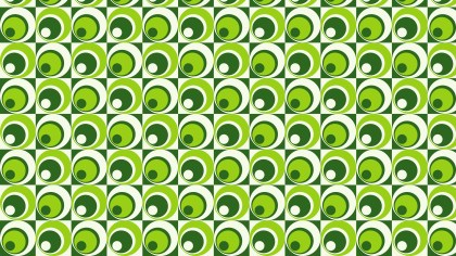 Green Seamless Geometric Circle Pattern Vector Illustration